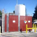 Installation of a blast wall and new liquid hydrogen tank